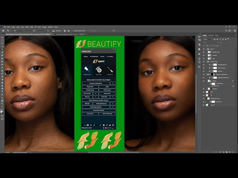 Dark Skin Texture Effects Using Beautify Penal In Photoshop