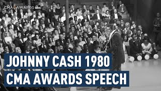 Johnny Cash CMA Awards 1980 Speech
