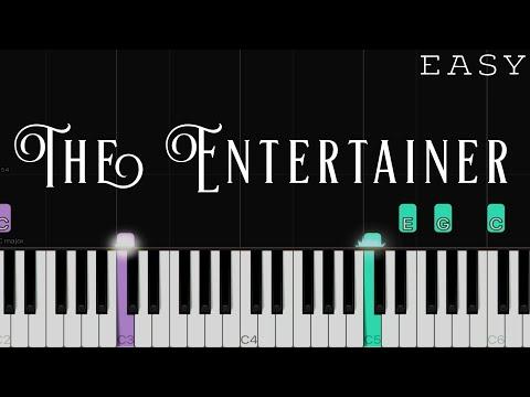 The Entertainer - Scott Joplin   EASY Piano Tutorial
