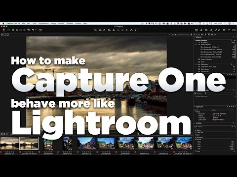 How to make Capture One behave more like Lightroom