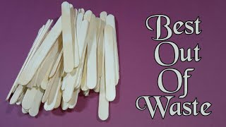 Best Out Of Waste From Ice Cream Stick Craft Idea | DIY Craft Project | Ice Cream Stick Box