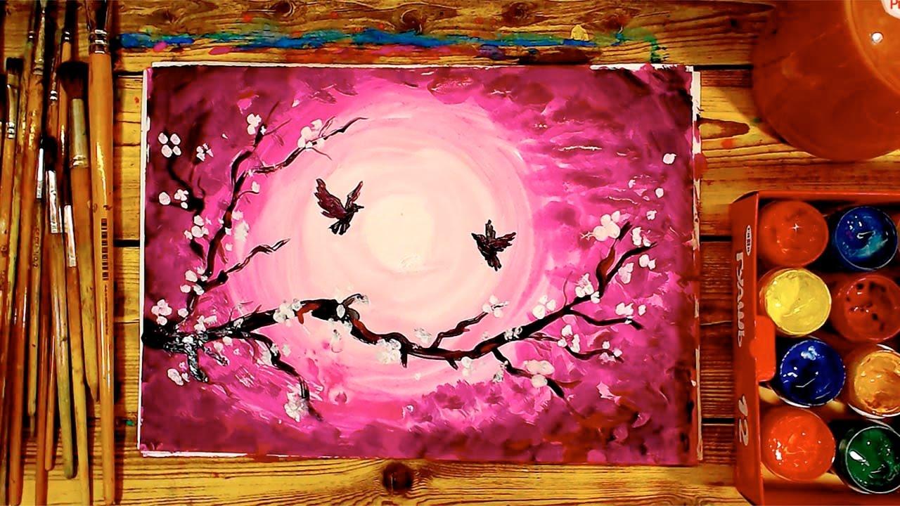 Картинки красками для детей 11 лет, год открытка