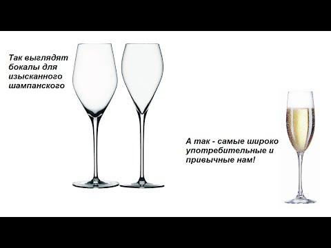 Форма бокалов для вина. Бокалы - ч. 2