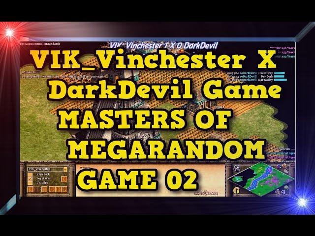 Age of Empires 2 HD VIK Vinchester X DarkDevil Game 02MoMR Round1 AoE2HD Gameplay PT BR