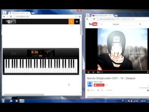 DESPAIR   NARUTO   NARUTO SHIPPUDEN   VIRTUAL PIANO