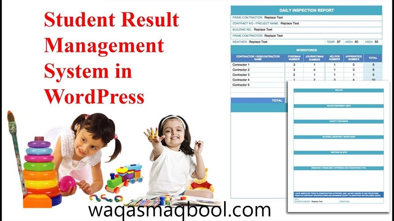 Online Student Result in Wordpress