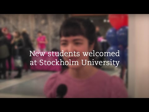 """""""It's been a great introduction so far"""" - New students welcomed at Stockholm University"""