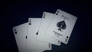 Apparizione 4 assi / 4 aces magic trick