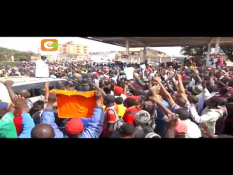 Hostile reception greets Odinga Central Kenya tour