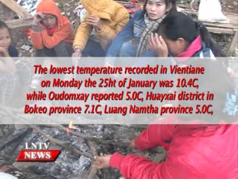 Lao NEWS on LNTV: Northeastern Laos are struggling with the freezing cold.26/1/2016