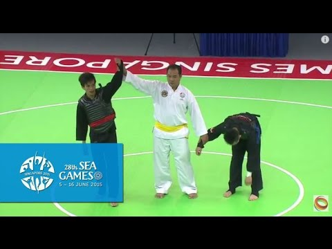 Pencak Silat Tanding Category Indonesia vs Singapore  (Day 6) | 28th SEA Games Singapore 2015
