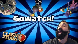 Clash of clans - Gowatch!! ( my new strategy!)