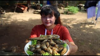 Cooking skills | fish fry - primitive life | survival skills. HT