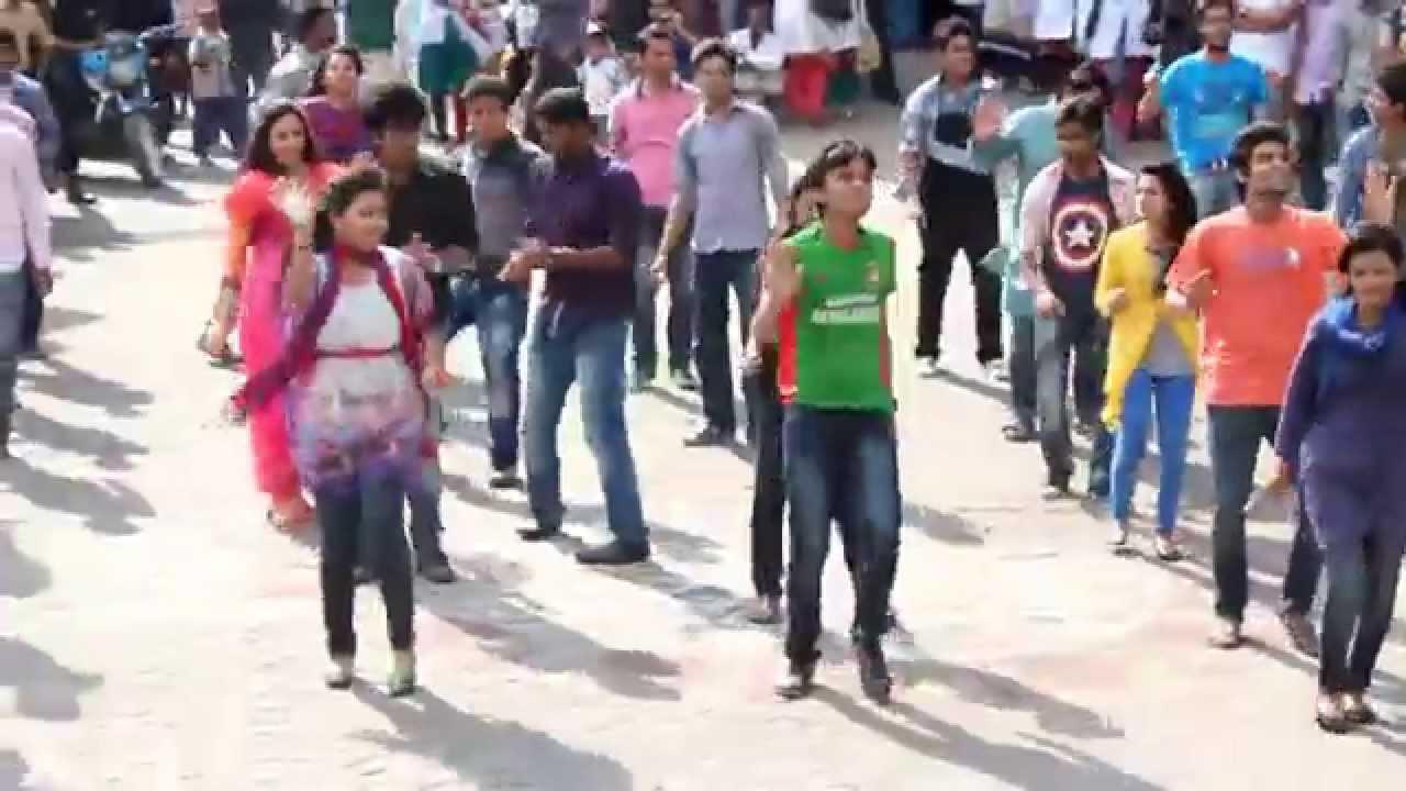 ICC World Twenty20 Bangladesh 2014 - Flash Mob University Of Science & Technology Chittagong (US