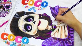 DIBUJANDO A MAMÁ IMELDA ♡COCO(DISNEY PIXAR) DRAWING COCO
