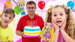 Diana and Roma Best Birthday Party! Magical Cartoon Compilation