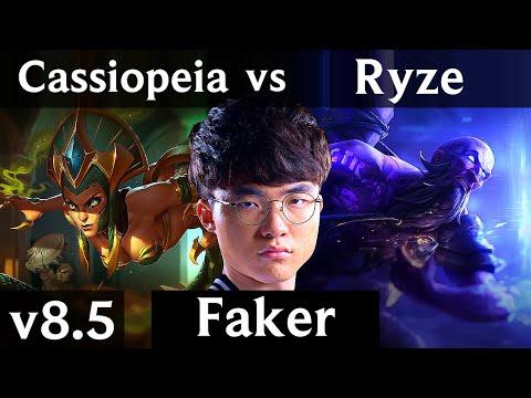SKT T1 Faker - CASSIOPEIA vs RYZE (MID) /// Korea Challenger /// Patch 8.5