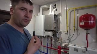 Отопление обвязка гидрострелки в коттедже г. Омск