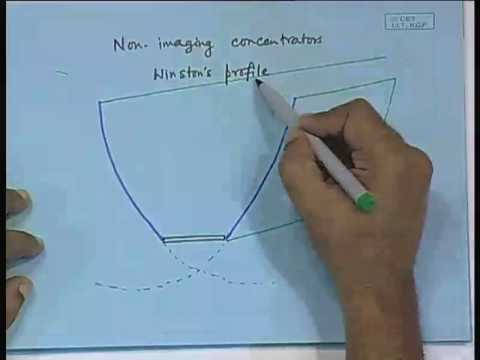 Lecture - 16 Solar Concentrating Collectors