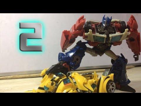 Transformers The Last Knight Pt 2 Optimus Prime Vs Bumblebee Stopmotion