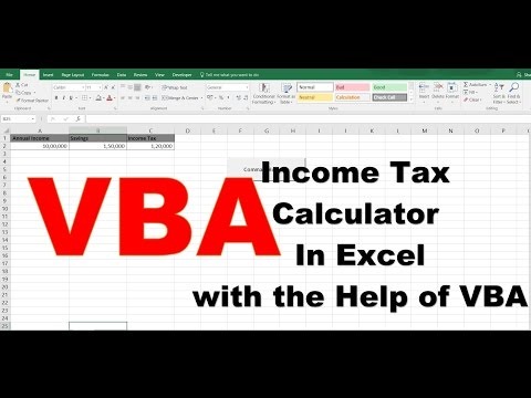 How To Create Income Tax Calculator In Excel With The Help Of VBA
