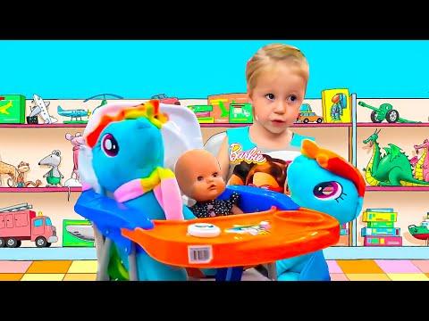 Kid Shopping at the supermarket