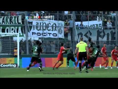 Gol de Ledesma. San Martín 1 Independiente 0.Fecha 21.Torneo Primera División 2015.FPT