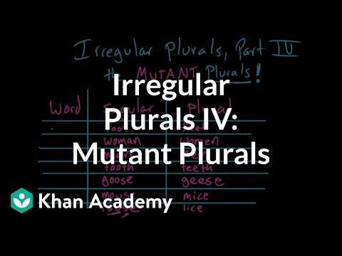 Irregular plural nouns | the MUTANT PLURALS | Grammar | Khan Academy