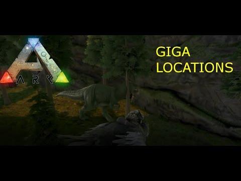 Ark Giganotosaurus Spawn Location's On Consoles!!  (Ark Survival Evolved LvL 100 Giga!!)