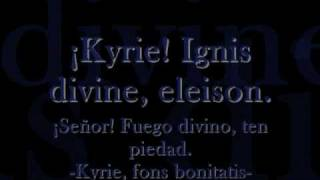 Lilium lyrics latín-español