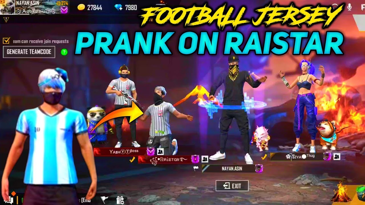 AGAIN PRANK ON RAISTAR ||RAI TUJE FOOTBALL JERSEY CHAHIYE ?? FUNNY PRANK ?
