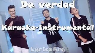 De Verdad - Adexe & Nau Ft. Abraham Mateo   Karaoke-Instrumental