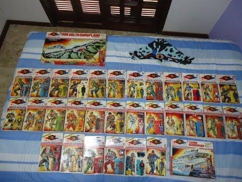Comandos em Ação / Gi Joe ESTRELA coleção collection from BRAZIL complete 84-95