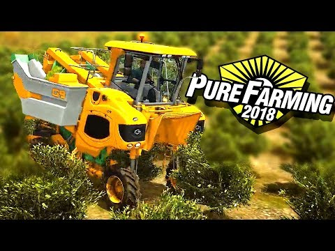 World's Most Amazing Farming Machines and Agriculture Technology! - Pure Farming 2018 Gameplay
