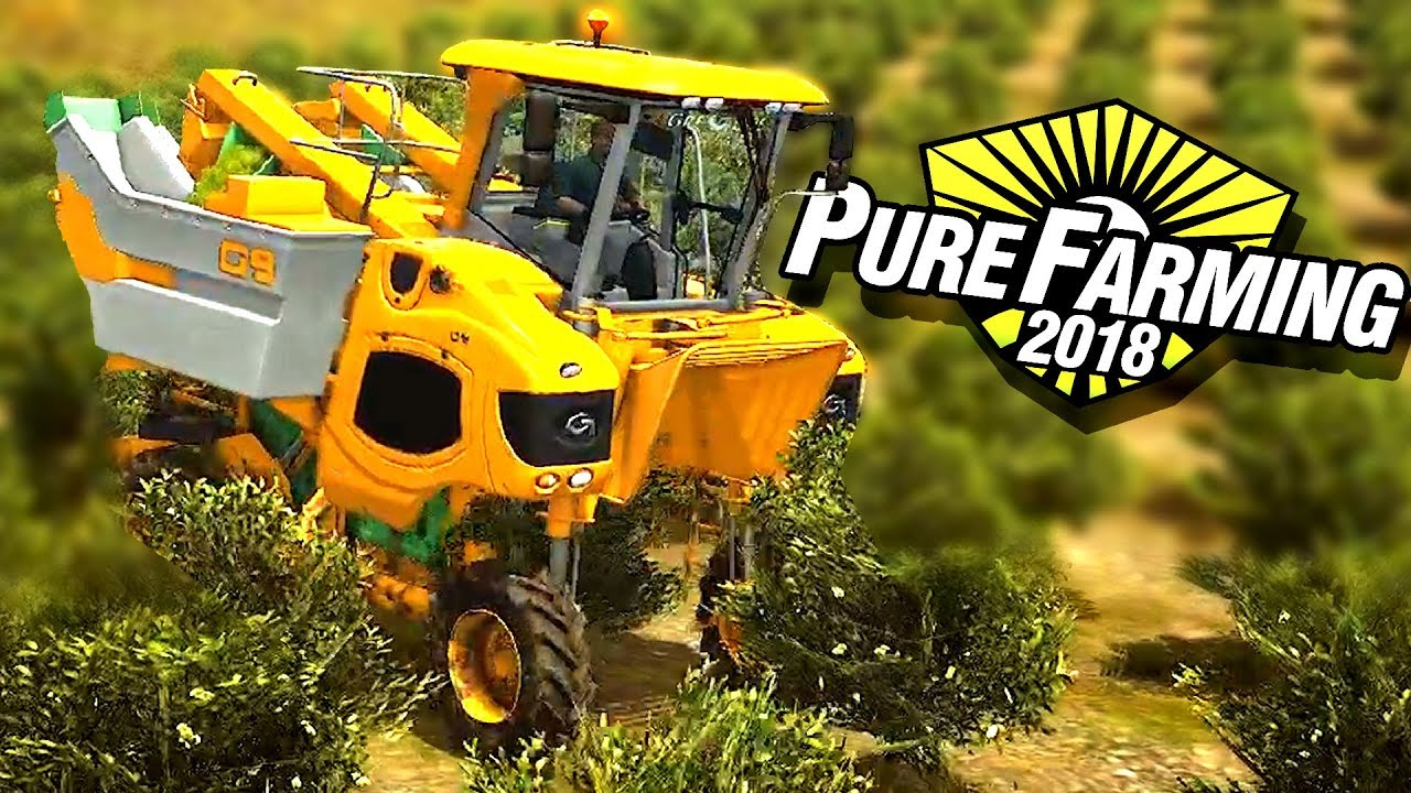 World's Most Amazing Farming Machines and Agriculture Technology! – Pure Farming 2018 Gameplay