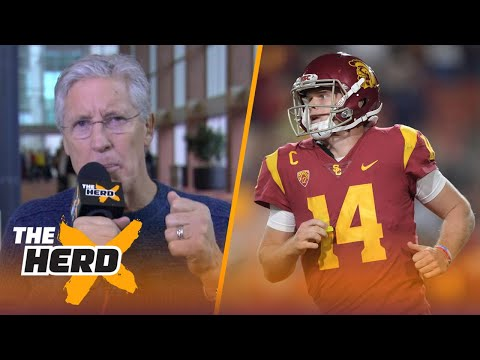 Seattle Seahawks Pete Carroll talks Sam Darnold and the challenges in drafting short QB