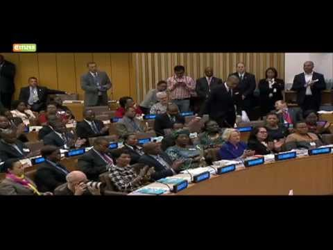 Boy, 11, shares HIV survival story, receives standing ovation at UN meeting