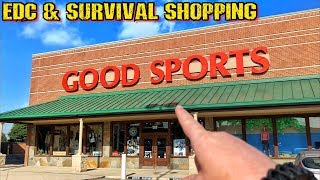 EDC & Survival Shopping at Good Sports Outfitters