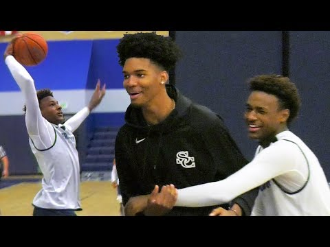 Bronny SNATCH BLOCK + BANGOUT! Bench Goes CRAZY In Garbage Time! Sierra Canyon Sunday BLOWOUT