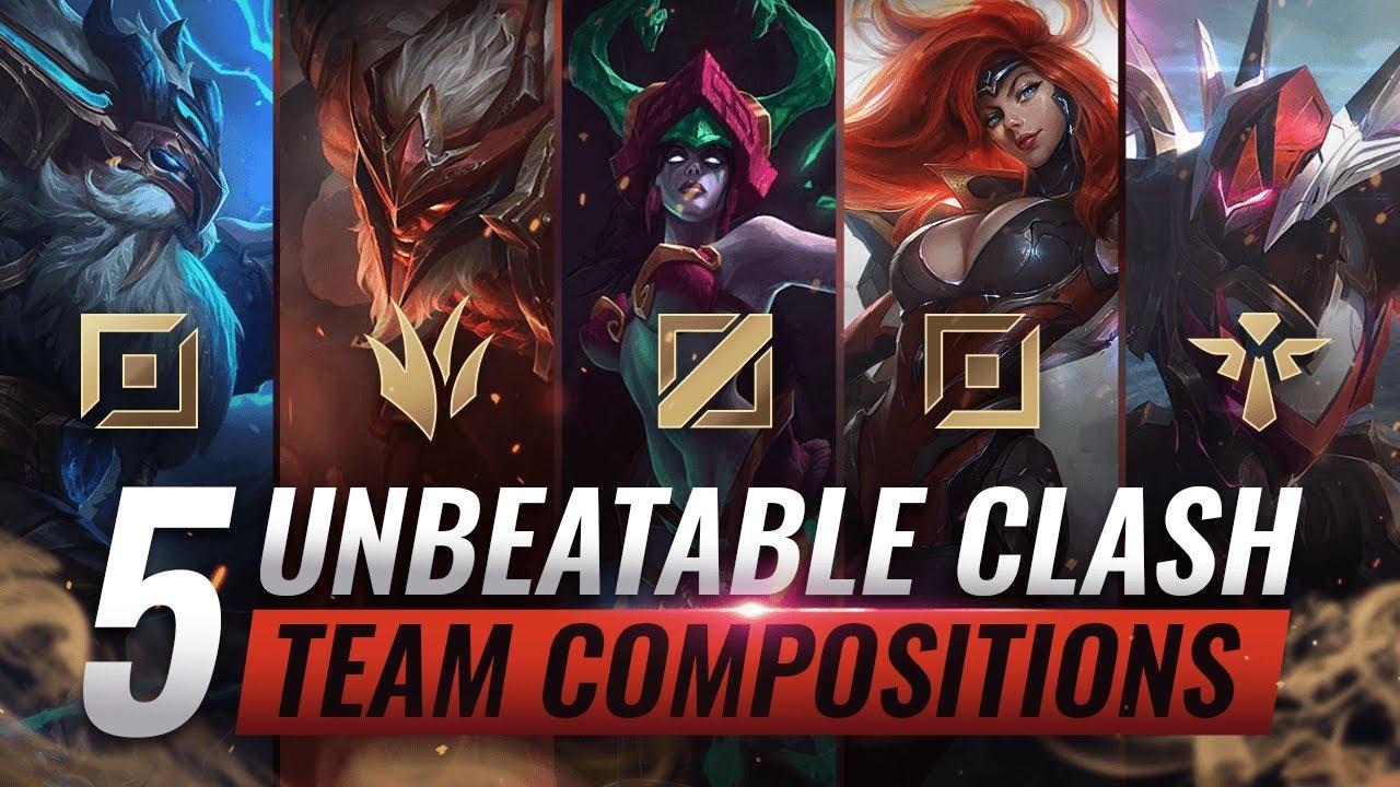 5 UNBEATABLE Team Compositions For CLASH YOU MUST ABUSE - League of Legends Season 10 thumbnail