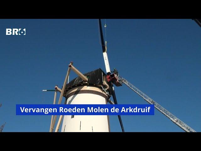 Vervangen van de roeden van molen de Arkdruif