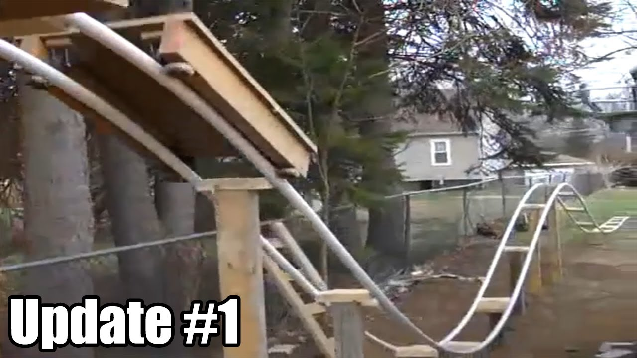 Update #1 - Construction | PVC Roller Coaster - YouTube
