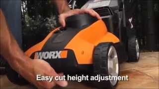 [Best Price] WORX WG782 14-Inch 24-Volt Cordless Lawn Mower With IntelliCut