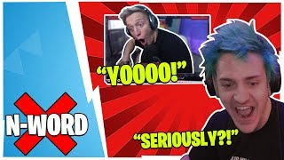 WHEN STREAMERS GET HIT WITH THE N WORD! *HILARIOUS*