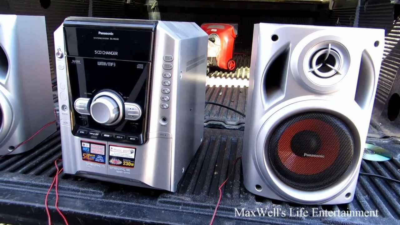 Garbage Picked Stereo 3 Panasonic Sa Ak 240 Maxwellsworld