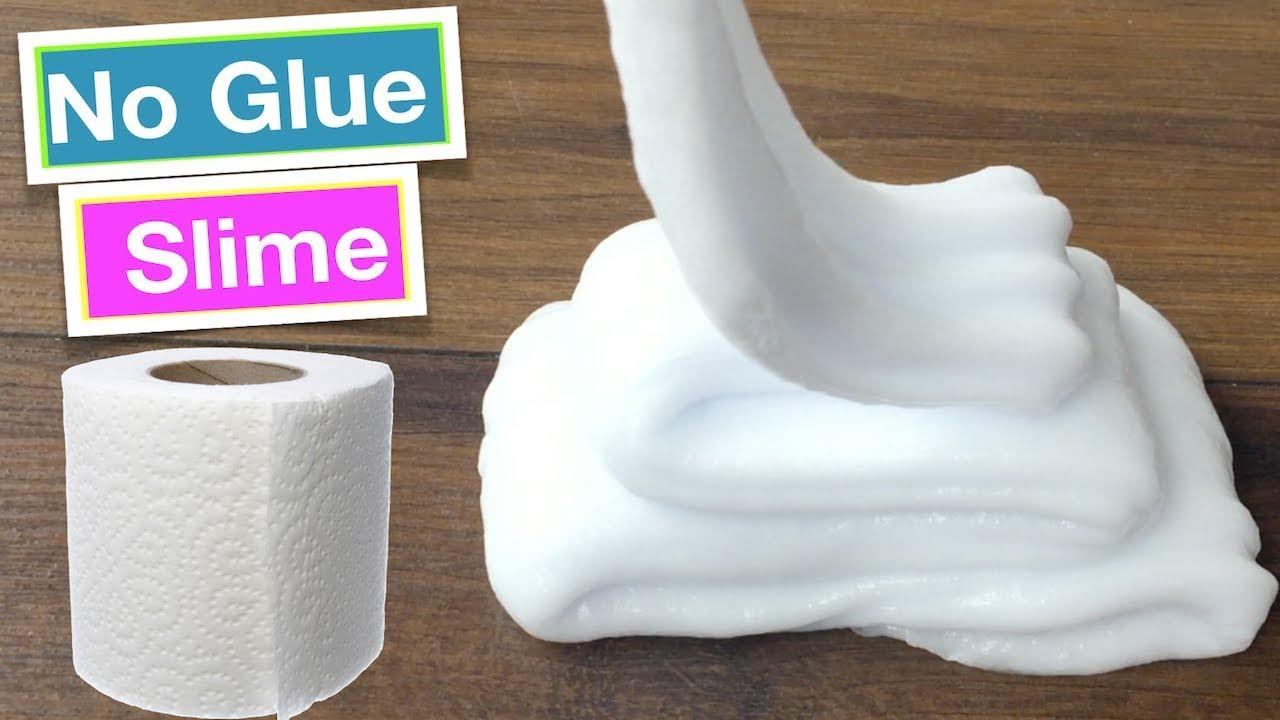 Testing Paper Slime No Glue Slime Recipes Youtube