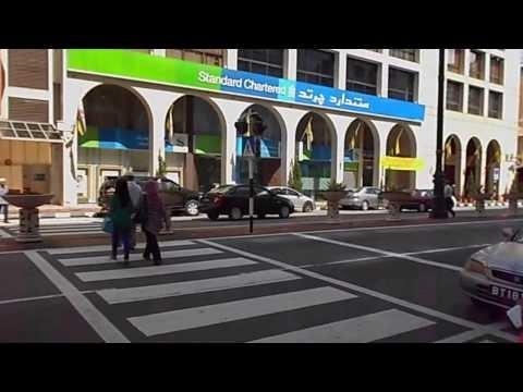 Crossing the street in Brunei