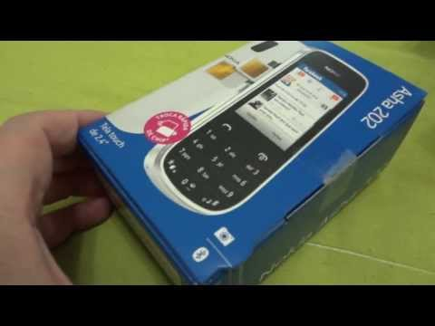 NOKIA ASHA 202 / Tirando da Caixa - Unboxing PT-BR HD