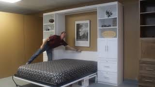 White Templeton Murphy Bed with Desk