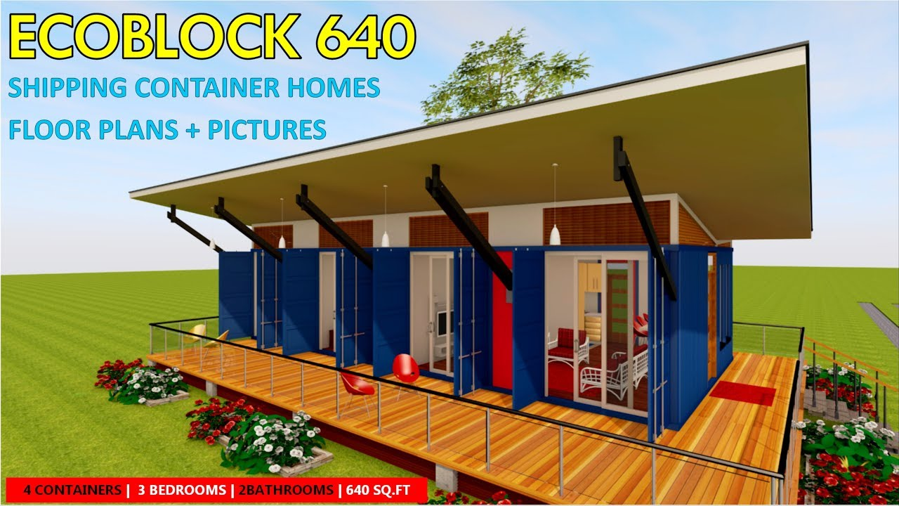Shipping container homes plans and modular prefab design ideas ecoblock 640 youtube - Container homes youtube ...
